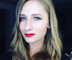 makeup, red, and redlips image