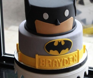 batman, birthday cake, and bday boy cake image