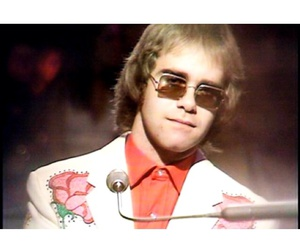 british, elton john, and glasses image