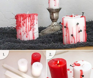 Halloween, candle, and diy image