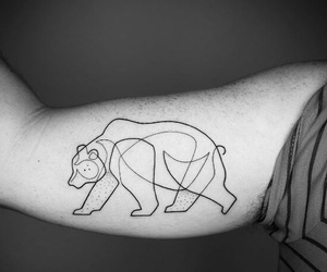lindo, oso, and tatuaje image