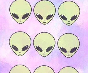 alien, pink, and tumblr image