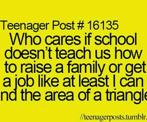 teenager post, funny, and school image
