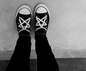 black, converse, and dark image