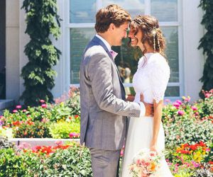 bride and groom, romantic, and love image