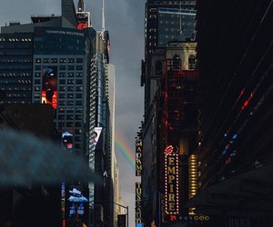 city, lights, and nyc image