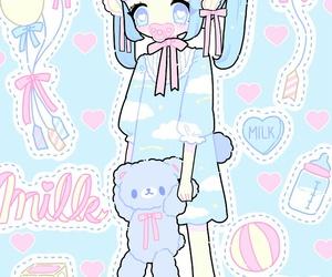 anime, baby girl, and beautiful girl image