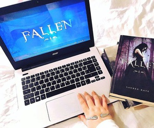book, angels, and fallen image