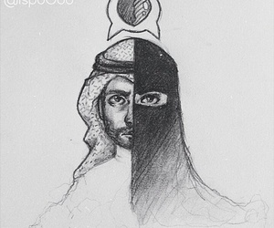 arab, couple, and love image