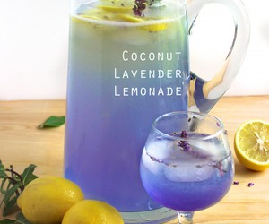 lavender, lemonade, and coconut water image