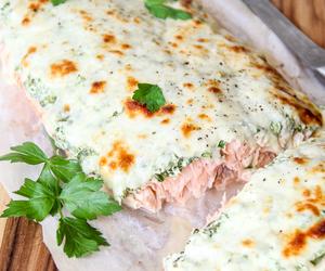 salmon, spinach, and yogurt image