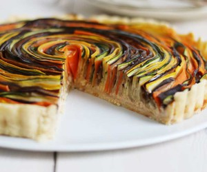 food, pie, and vegetais image