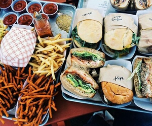 food, burgers, and fries image