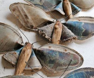 accessory, blue, and moth image