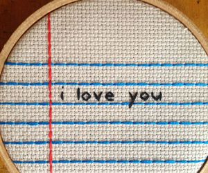 embroidery, I Love You, and cute image