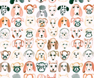 wallpaper, dogs, and pattern image
