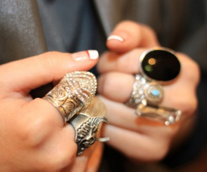 fashion, rings, and gems image