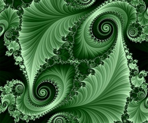 fractal, green, and pintrest image
