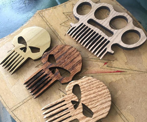 brass knuckles, comb, and etsy image