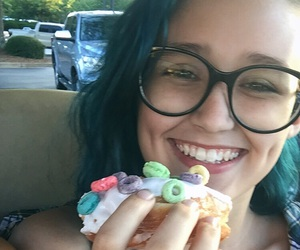 blue, donut, and girl image