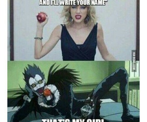 death note, ryuk, and Taylor Swift image