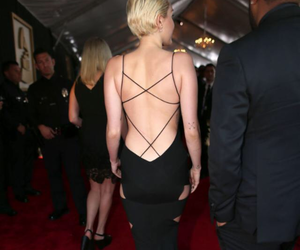 miley cyrus, dress, and grammy image