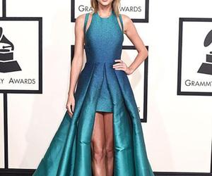 awards, dress, and blue image