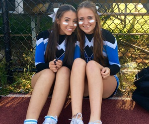 best friends, cheerleader, and girl image
