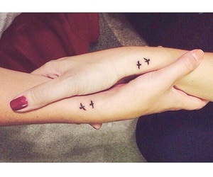 bff, tatto, and birds image
