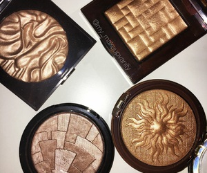 bronze, hold, and makeup image