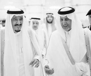 black and white, king, and saudi arabia image
