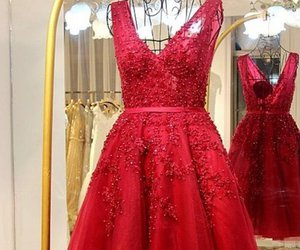 red homecoming dress, cheap homecoming dresses, and short homecoming dress image