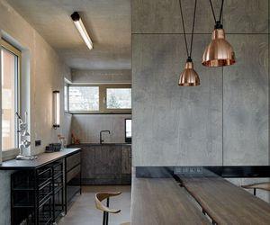 building, dark, and loft image