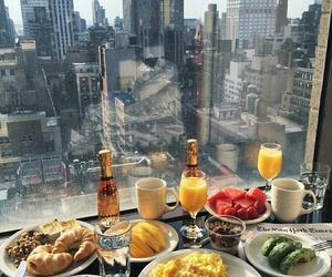 food, city, and breakfast image