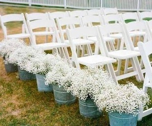 aisle, baby's breath, and ceremony image