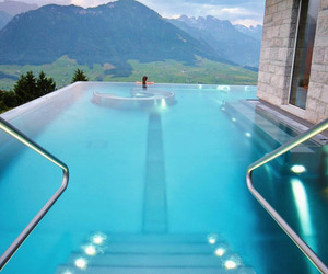 pool, blue, and luxury image
