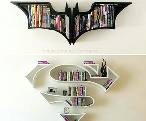 batman, superman, and book image