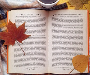 autumn, bookworm, and book image