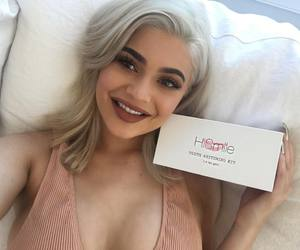 kylie jenner, makeup, and smile image