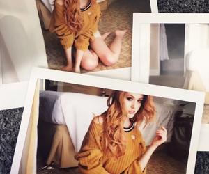 beautiful girl, polaroid, and yellow image