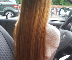brown hair, car, and hair image