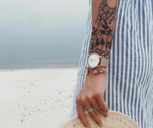 beach, girl, and tattoo image