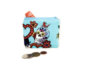 day of the dead, change purse, and etsy image