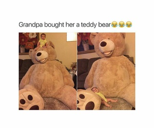 baby, funny, and teddy bear image