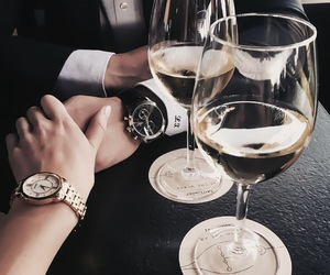 champagne, couple, and cute image