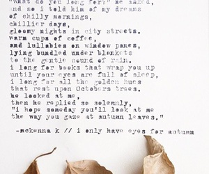 autumn, fall, and poetry image