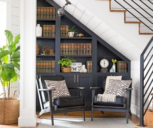 entryway, home, and library image