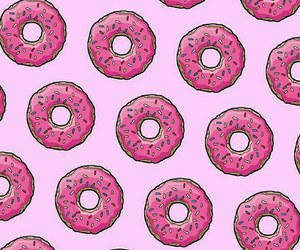 art, background, and donuts image