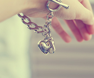 bracelet, heart, and silver image