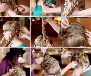 beauty, braids, and hairdos image
